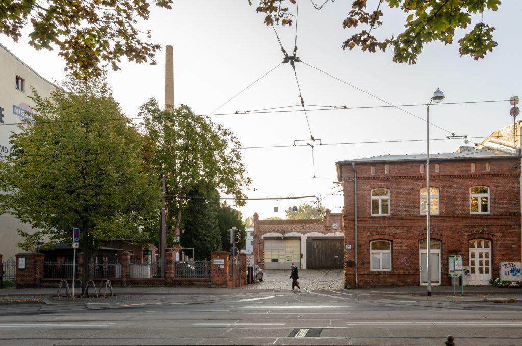 Außen-Ansicht des MVB-Betriebshofes in Sudenburg